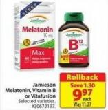 Jamieson Melatonin - Vitamin B or Vitafusion