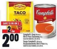 Campbell's Soup 284 ml Or Old El Paso Seasoning 24 g
