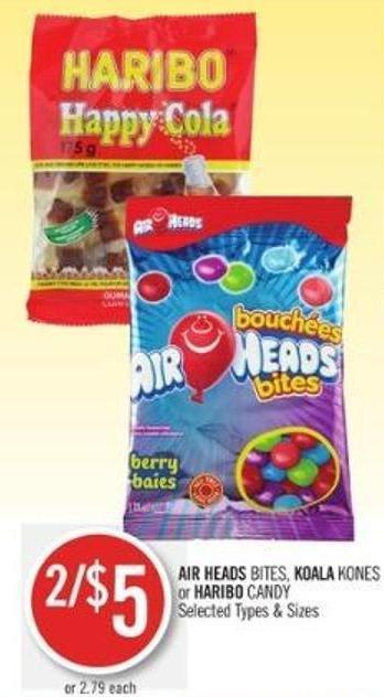 Air Heads Bites - Koala Kones or Haribo Candy