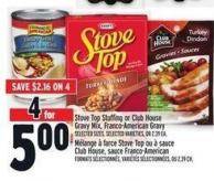 Stove Top Stuffing Or Club House Gravy Mix - Franco-american Gravy