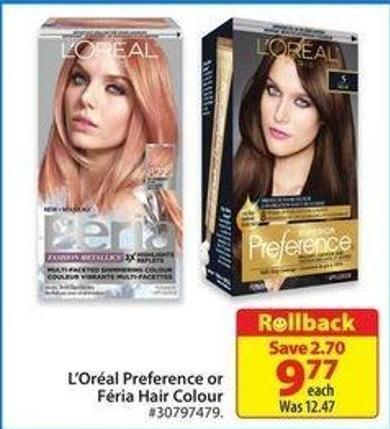 L'oréal Preference or Féria Hair Colour