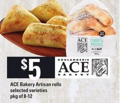 Ace Bakery Artisan Rolls - Pkg of 8-12