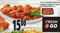 Fresh 2 Go Spaghetti Meatballs Family Pack 1.5 Kg