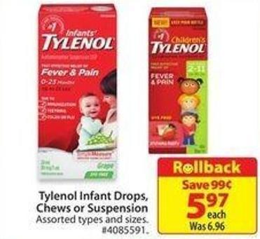Tylenol Infant Drops.chews or Suspension