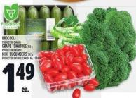 Broccoli Product Of Canada Grape Tomatoes 283 G Product Of Ontario Mini Cucumbers 397 G