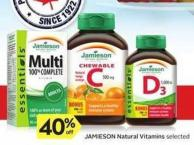 Jamieson Natural Vitamins