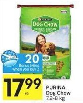 Purina Dog Chow 7.2-8 Kg - 20 Air Miles Bonus Miles