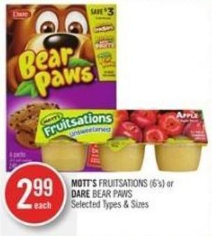 Mott's Fruitsations (6's) or Dare Bear Paws