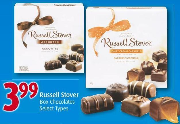 Russell Stover Box Chocolates Select Types