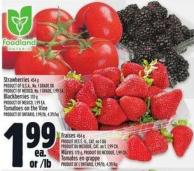 Strawberries 454 g Product Of U.S.A. - No. 1 Grade Or Product Of Mexico - No. 1 Grade - 1.99 Ea.
