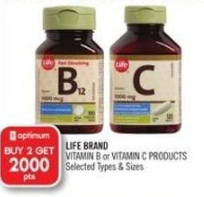 Life Brand Vitamins B & Vitamin C Products
