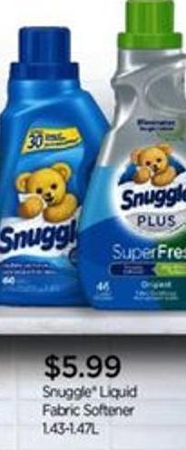 Snuggle Liquid Fabric Softener - 1.43-1.47l