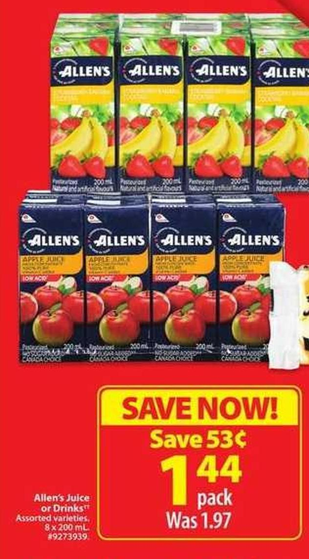 Allen's Juice or Drinks