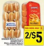 Dinner Rolls Or Dempster's Pull-apart Rolls