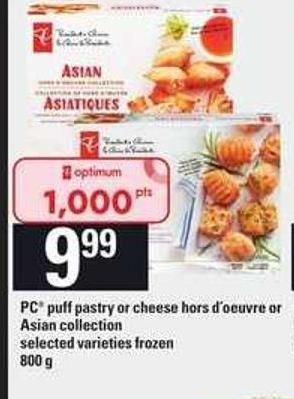 PC Puff Pastry Or Cheese Hors D'oeuvre Or Asian Collection - 800 g