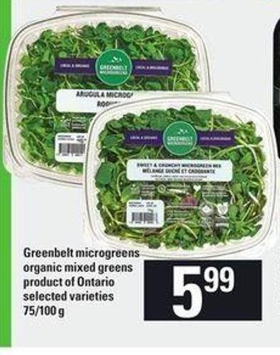 Greenbelt Microgreens Organic Mixed Greens - 75/100 g