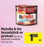 Nutella & Go Breadstick Or Pretzel - 52-54 g