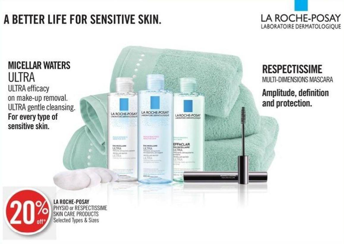 La Roche-posay Physio or Respectissime Skin Care Products
