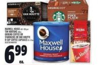 Maxwell House 631 - 925 G Or Tim Hortons 300 G - Ground Coffee Or Starbucks Or Van Houtte K-cup Coffee Capsules 10 - 12 Un