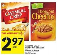 General Mills Honey Nut Cheerios Or Oatmeal Crisp