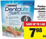 Purina Dentalife Chews - 485-595 G