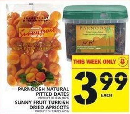 Parnoosh Natural Pitted Dates Or Sunny Fruit Turkish Dried Apricots