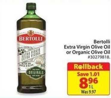 Bertolli Extra Virgin Olive Oil or Organic Olive Oil
