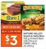 Nature Valley Sweet & Salty Bars 192 g - Protein Bars 148-210 g or Fibre 1 Bars 25-200 g