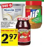 Smucker's Jam Or Jif Peanut Butter Or Philadelphia Cream Cheese