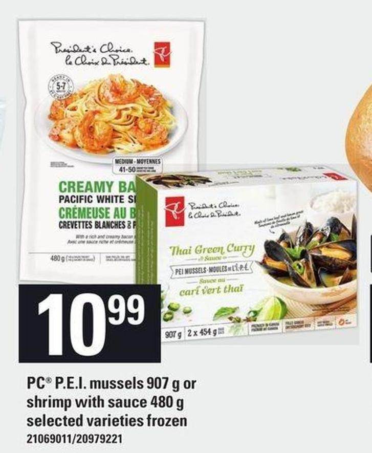 PC P.e.i. Mussels 907 G Or Shrimp With Sauce 480 G