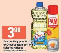 Pam Cooking Spray 113-170 G Or Cricso Vegetable Oil 1.42 L