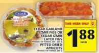 Cedar Garland Izmir Figs Or Cedar Izmir Layer Figs Or Pitted Dried Apricots