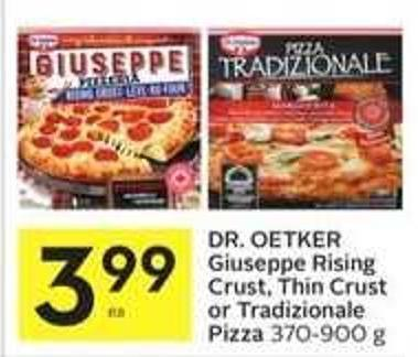 Dr. Oetker Giuseppe Rising Crust - Thin Crust or Tradizionale Pizza 370 - 900 g