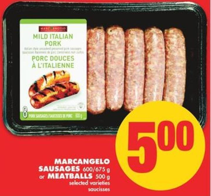 Marcangelo Sausages - 600/675 G Or Meatballs - 500 G
