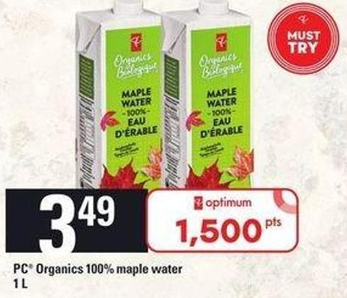 PC Organics 100% Maple Water