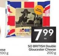So British Double Gloucester Cheese 200 g