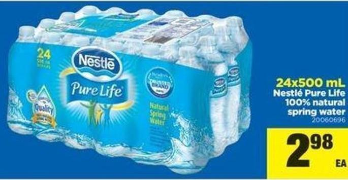 24x500 Ml Nestlé Pure Life 100% Natural Spring Water