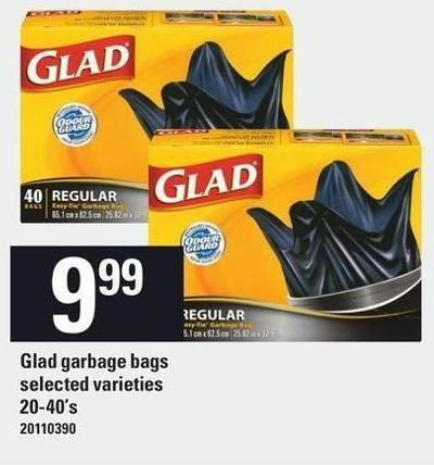 Glad Garbage Bags - 20-40's