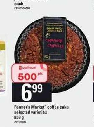 Farmer's Market Coffee Cake - 850 g