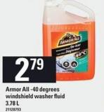 Armor All -40 Degrees Windshield Washer Fluid - 3.78 L