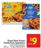 Great Value Frozen Family Pack Appetizers