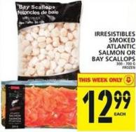 Irresistibles Smoked Atlantic Salmon Or Bay Scallops