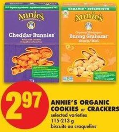 Annie's Organic Cookies Or Crackers - 115-213 G