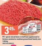 PC Spiral-sliced Bone-in Half Ham Applewood Or Hickory Smoked Or Medium Ground Beef