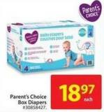 Close Parent's Choice Box Diapers