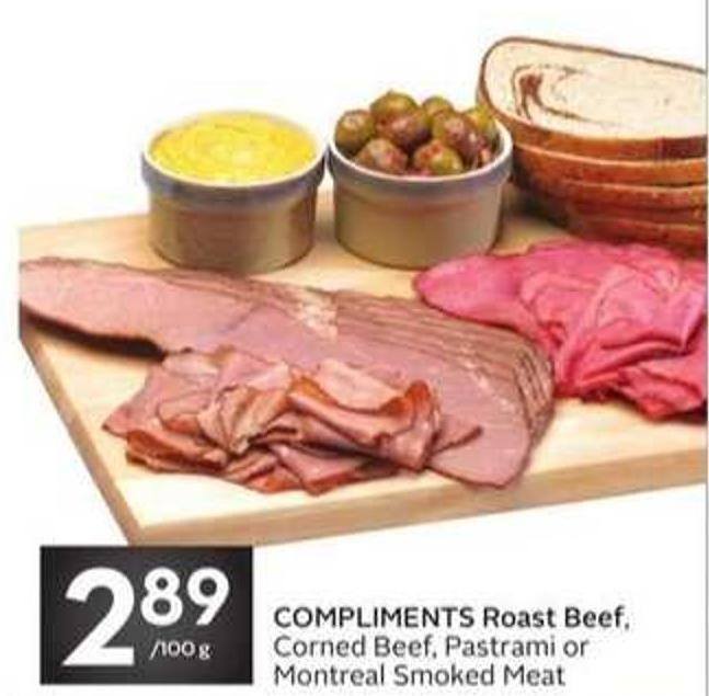 Compliments Roast Beef