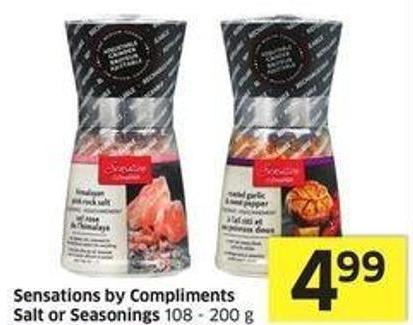 Sensations By Compliments Salt or Seasonings 108 - 200 g