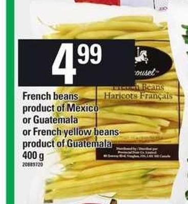 French Beans Or French Yellow Beans - 400 g