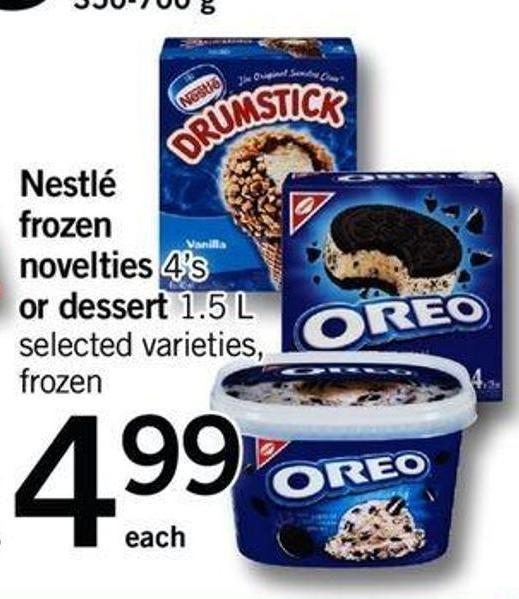Nestlé Frozen Novelties 4's Or Dessert 1.5 L