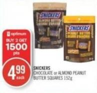 Snickers Chocolate or Almond Peanut Butter Squares 152 g